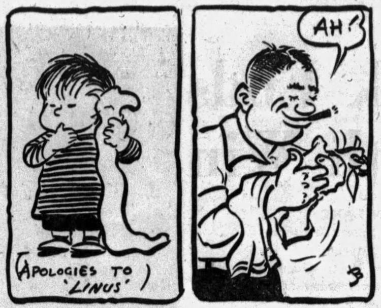 Linus_ blanket – Sunday Press (Binghamton, New York) – 19 January 1958