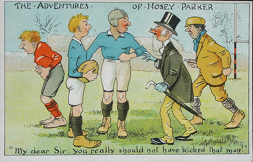 The Adventures of Nosey Parker - postcard - 1907