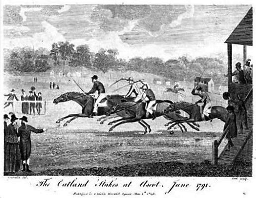 The Oatland Stakes at Ascot, June 1791 – The Sporting Magazine – April 1793