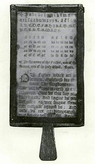 17th-century hornbook - from The Hornbook and its use in America (1916)