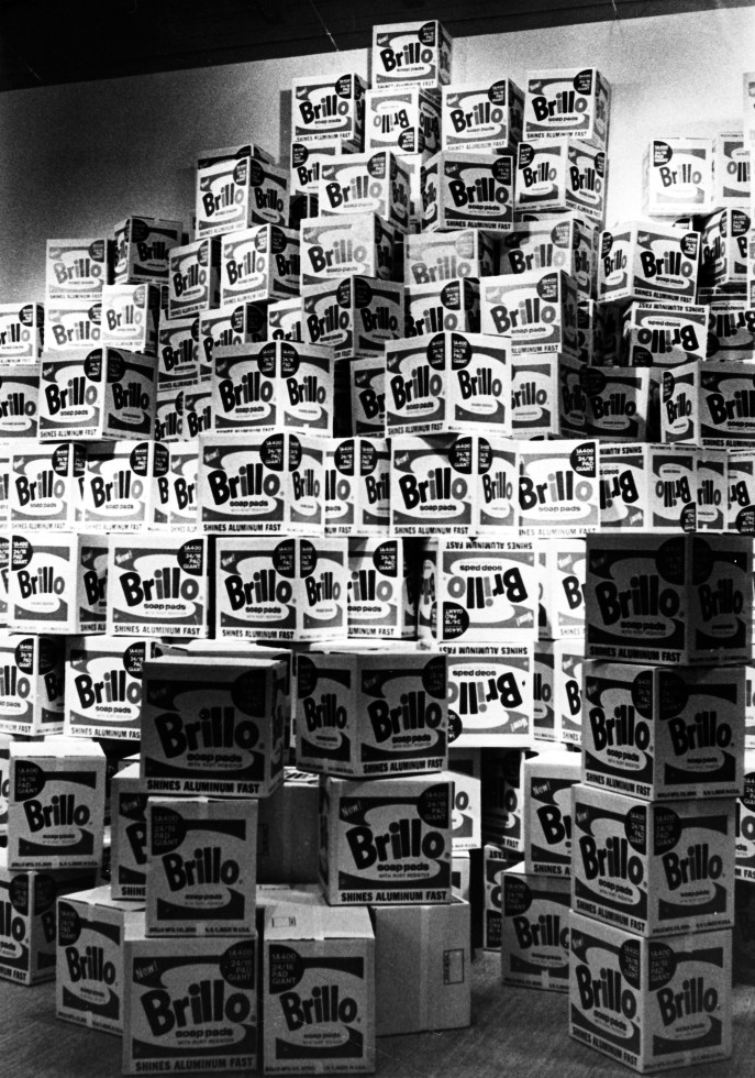 Brillo Soap Pads Boxes at Warhol_s retrospective at the Moderna Museet, Stockholm, 1968