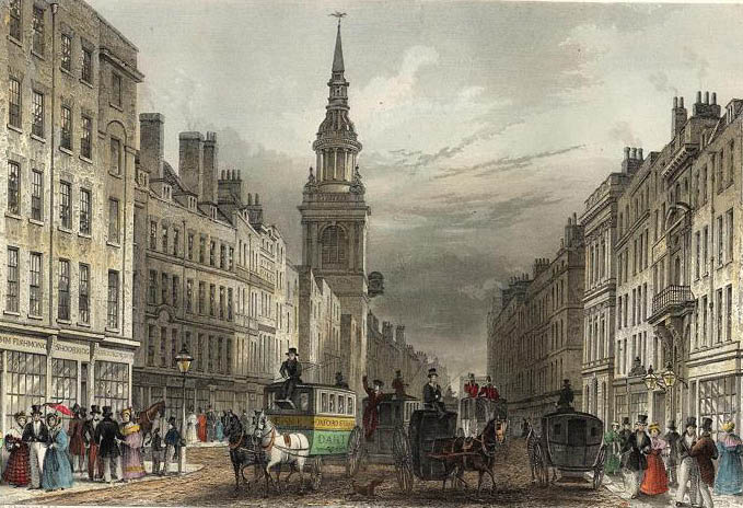 Cheapside and Bow Church - 1837