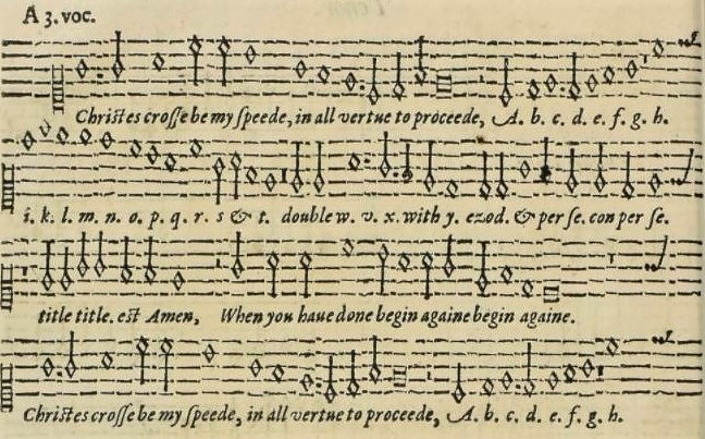 Christ-cross - A plaine and easie introduction to practicall musicke (1608)