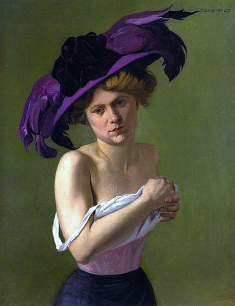 Félix Vallotton - Le Chapeau violet (1907)