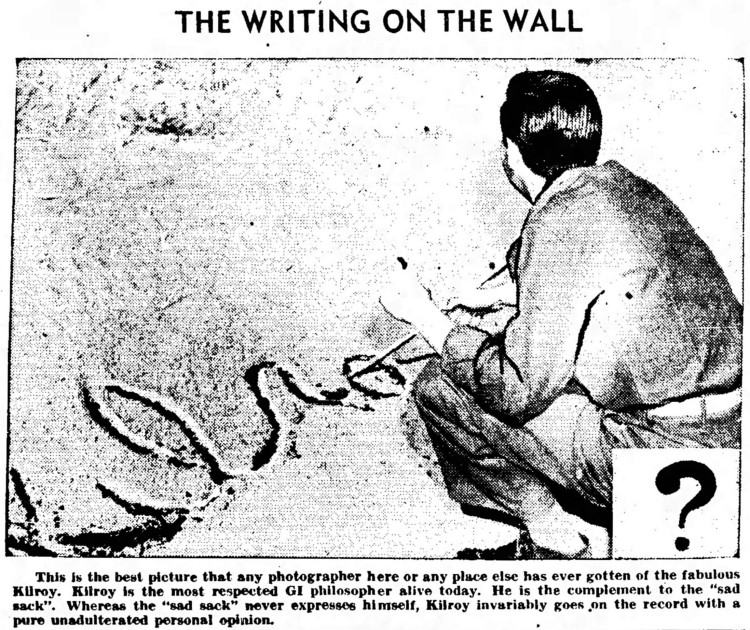 Kilroy - Nevada State Journal - 25 August 1945