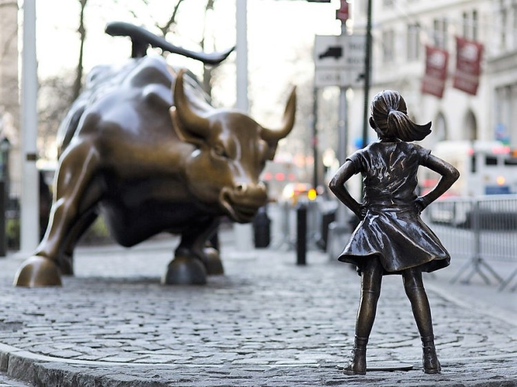 The Charging Bull and Fearless Girl - New York City