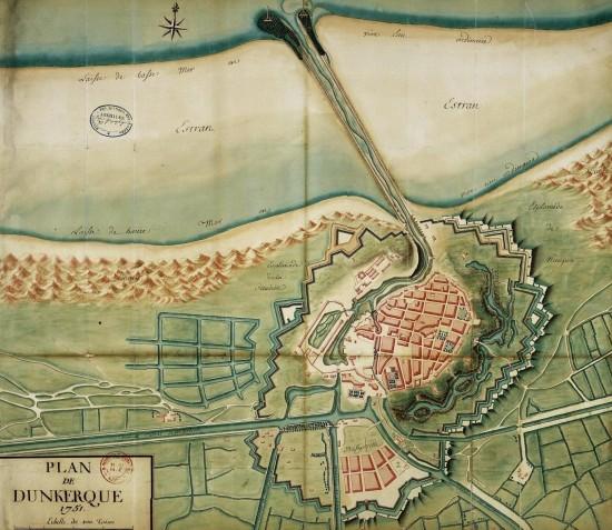 Plan de Dunkerque 1751