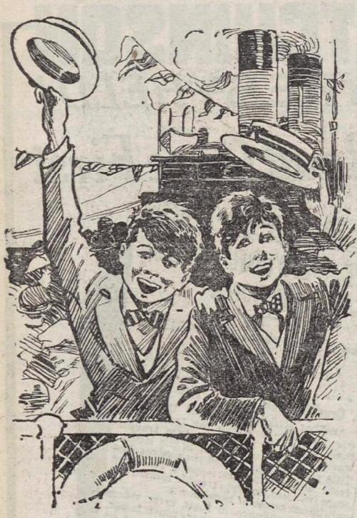 illustration for 'The Nickums on Holiday' - The Sunday Post (Glasgow, Lanarkshire, Scotland) - 1 July 1923