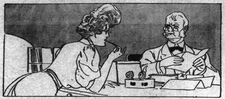 to go Dutch' - illustration for 'Does Office Chumming Pay' - The Inter Ocean (Chicago, Illinois) - 2 June 1907