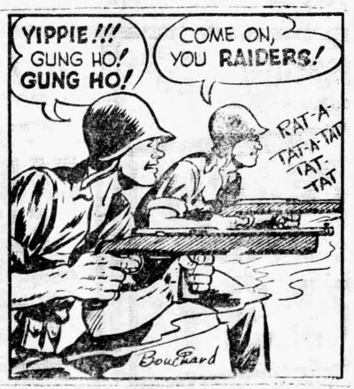 'gung ho' - Sergeant Stony Craig of the Marines - Wilmington Press (California) - 22 December 1942