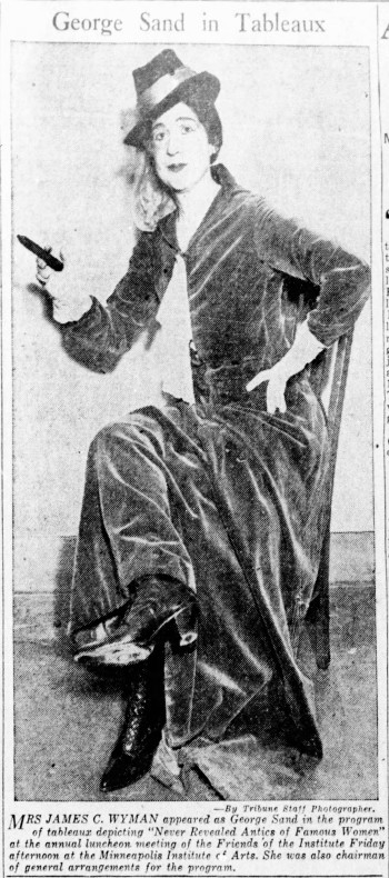 Mrs. James C. Wyman as George Sand - The Minneapolis Tribune (Minneapolis, Minnesota) - 4 November 1933