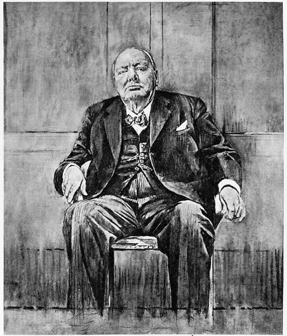 portrait of Winston Churchill - The Sketch (London) - 1 December 1954