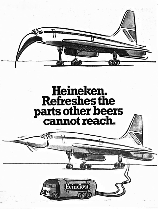 'Heineken. Refreshes the parts other beers cannot reach' - Daily Mirror (London) - 25 May 1976