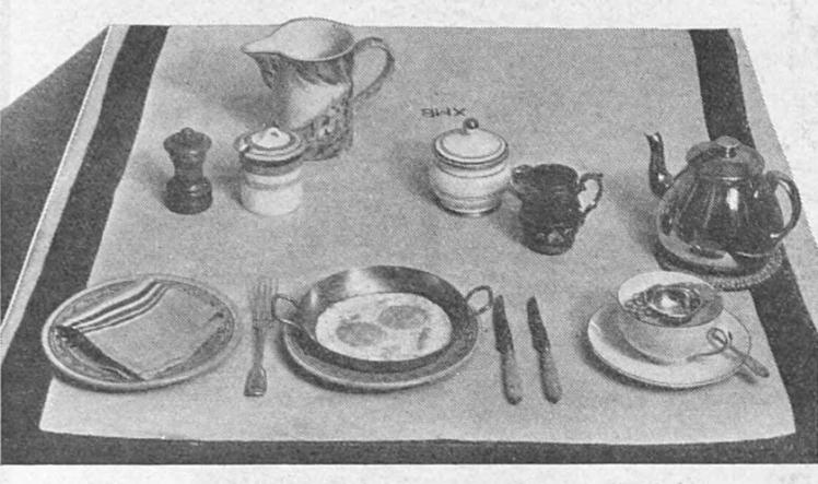 'full English breakfast' - Britannia and Eve (London, England) - September 1933