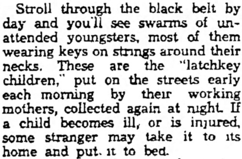 'latchkey child' - Fitchburg Sentinel (Massachusetts) - 25 March 1935