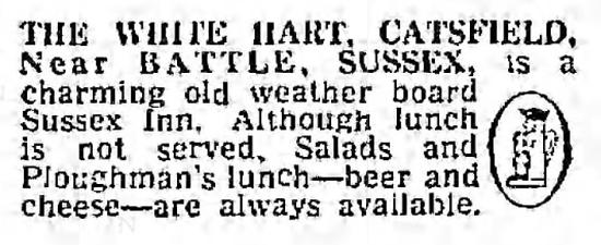 'ploughman's lunch' - The Guardian (Manchester, Lancashire) - 4 June 1962