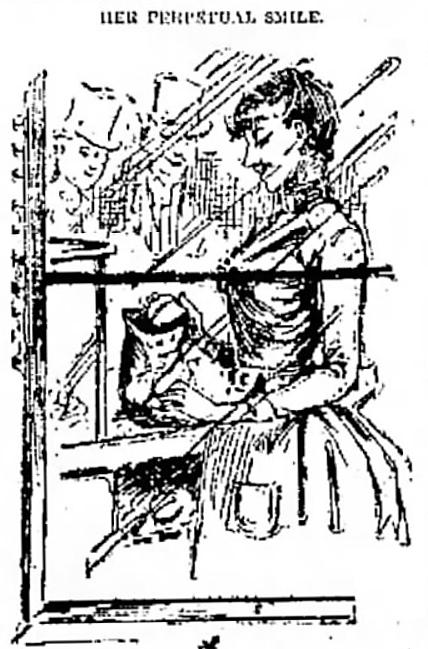 'Her Perpetual Smile.' - Galveston Daily News (Galveston, Texas) - 16 December 1889