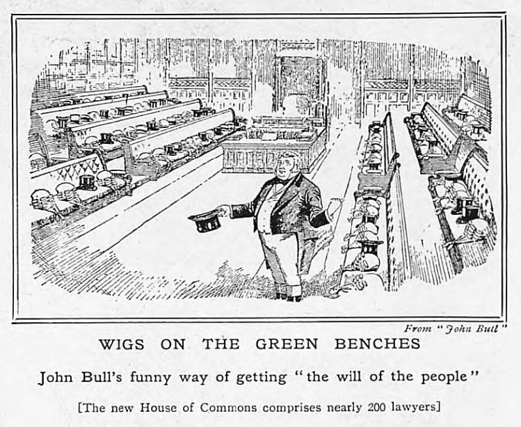 'wigs on the green benches' - The Tatler (London) - 18 January 1911