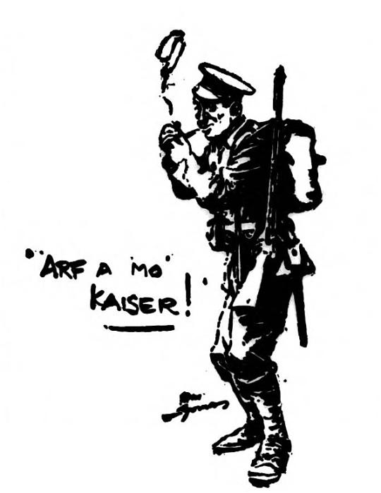 'arf a mo', Kaiser! - The Lakes Herald (Ambleside, Westmorland, England) - 8 October 1915