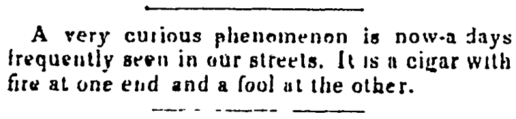 'fire at one end and a fool at the other' - Bangor Courier (Bangor, Maine) - 26 January 1841