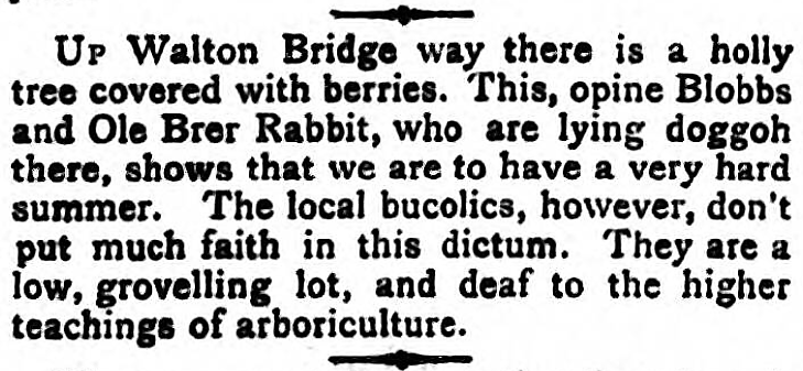 'to lie doggoh' - Sporting Times (London) - 29 April 1882