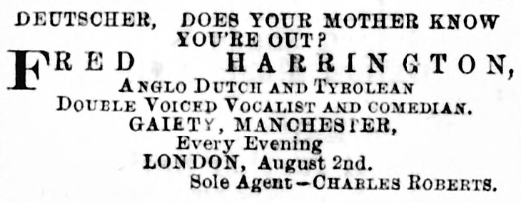 'does your mother know you're out' - The Entr'acte and Limelight (London, England) - 31 January 1880
