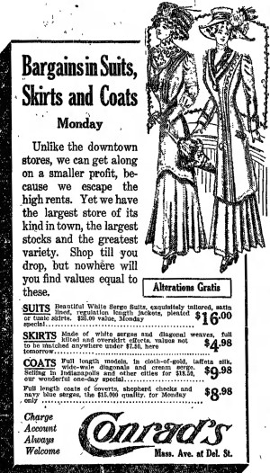 'to shop till one drops' - Indianapolis Star - 17 April 1910