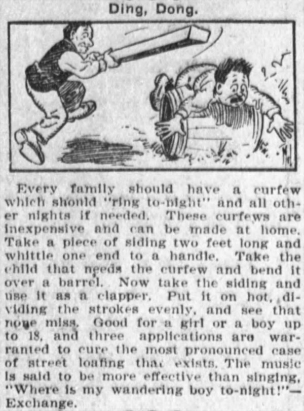 'over a barrel' - Marion Daily Mirror - 5 February 1909