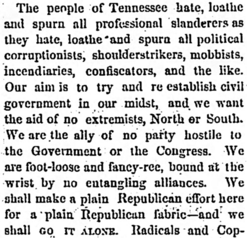 footloose and fancy-free' - Republican Banner (Nashville, Tennessee) - 20 March 1867