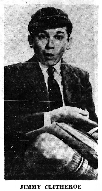 Jimmy Clitheroe - The Coventry Evening Telegraph (Coventry, Warwickshire, England) - 17 December 1965