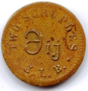 a two-scruple apothecary weight coin