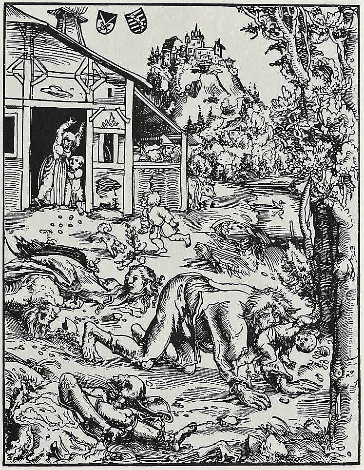 Werewolf (circa 1512), by Lucas Cranach the Elder