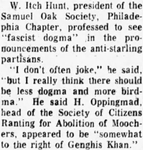 'to the right of Genghis Khan' - Philadelphia Inquirer (Pennsylvania) - 2 November 1963