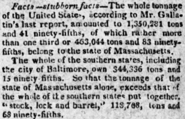 stock, lock and barrel - New York Evening Post - 18 February 1811