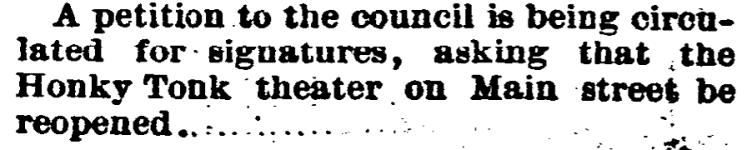 'honky-tonk' - Fort Worth Gazette (Texas) - 24 January 1889