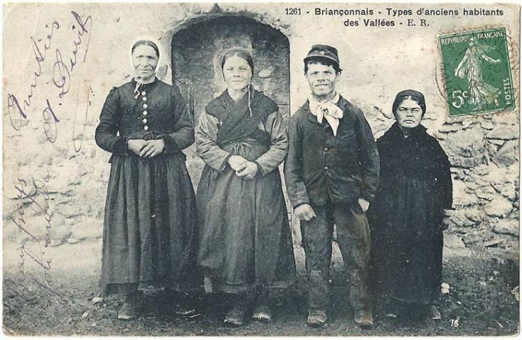 Briançonnais – Types d'anciens habitants des vallées