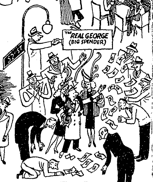The Real George (Big Spender) by Carl Rose - The New York Times - 31 December 1950