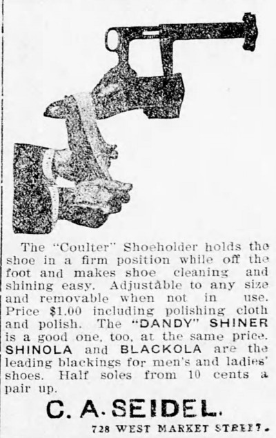 advertisement for Shinola - Miners' Journal (Pottsville, Pa.) - 23 November 1901