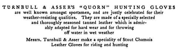 Quorn Hunt - second advertisement for Turnbull & Asser - Thoughts upon hunting (1802)
