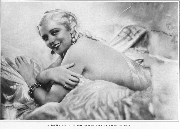 A lovely study of Miss Evelyn Laye as Helen of Troy - The Sketch (London, England) - 3 February 1932