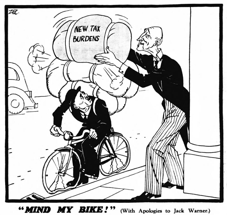'mind my bike' - Daily Mirror (London, England) - 21 February 1940