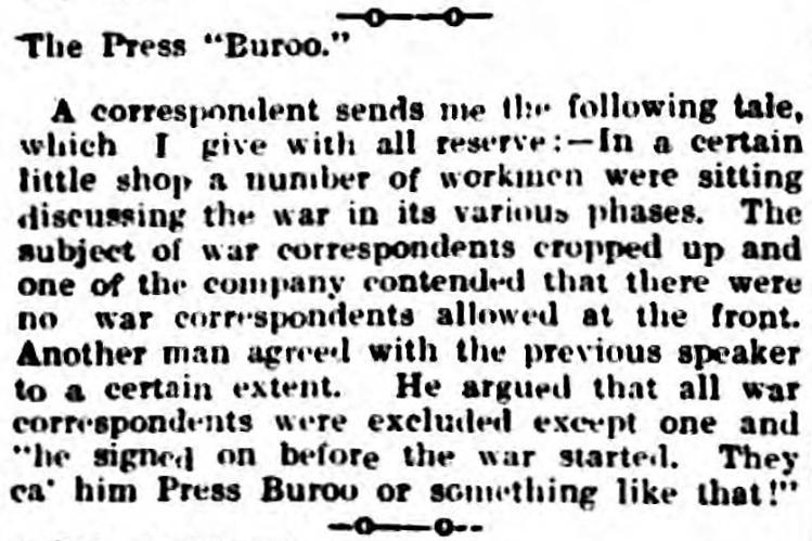 buroo - Berwick Advertiser (Berwick-upon-Tweed, Northumberland) - 18 September 1914