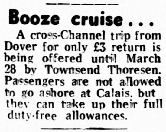 'booze cruise' - Liverpool Echo (Liverpool, Merseyside, England) - 12 February 1980