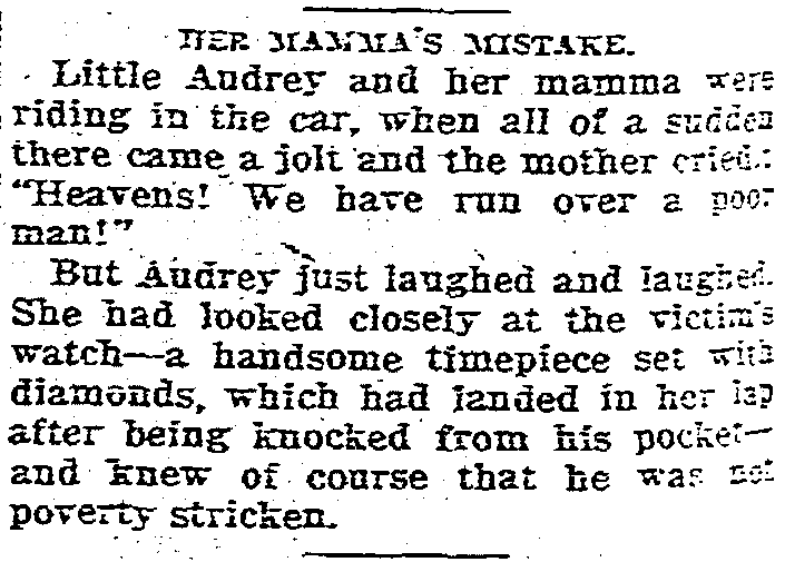 'little Audrey joke' - The Kansas City Star (Kansas City, Missouri) 3 January 1926