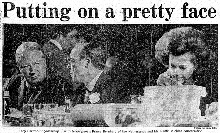 'Putting on a pretty face' - Daily Express (London) - 9 November 1973