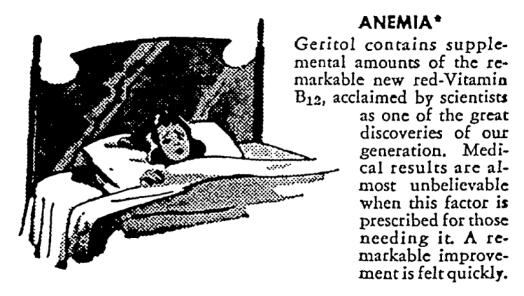 advertisement for Geritol 2 - Chicago Daily Sun-Times (Chicago, Illinois) - 27 August 1950