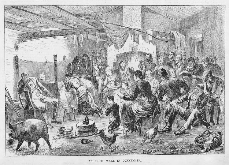 An Irish wake in Connemara - The Illustrated Sporting and Dramatic News (London, England) - 5 May 1883