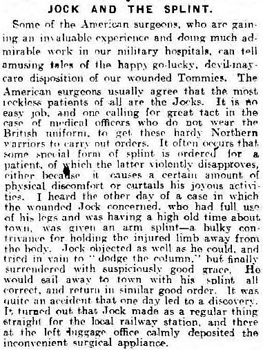 'to dodge the column' - Daily Mail (Hull, Yorkshire) - 10 August 1918