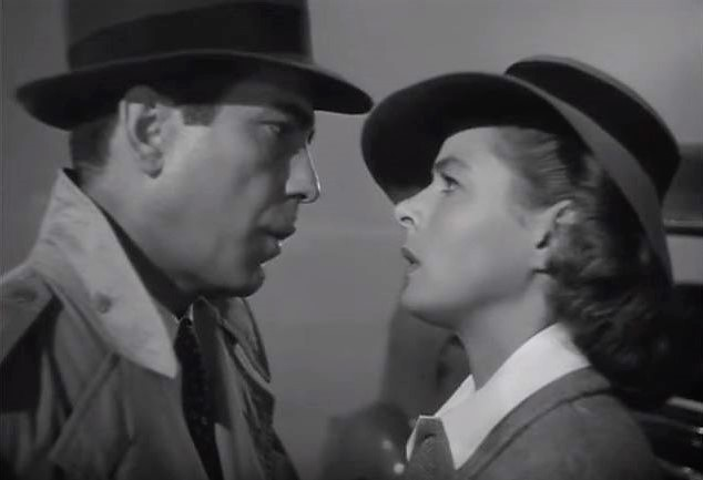 here's looking at you, kid - Bogard and Bergman - Casablanca (1942)