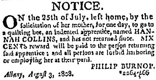 'quilting bee' - Albany Gazette (Albany, New York) - 4 August 1808